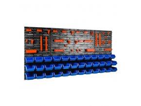 Nástenný organizér na náradie 1600 x 800 mm + 36 boxov ujodano (1)