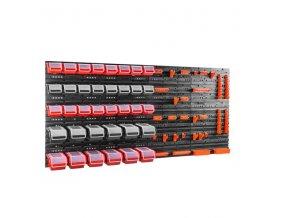 Nástenný organizér na náradie 1600 x 800 mm + 36 boxov s krytom ujodano (9)