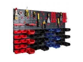 Nástenný organizér na náradie 1400 x 770 mm + 52 boxov ujodano (15)