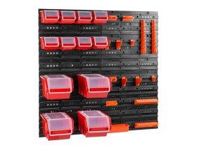 Nástenný organizér na náradie 800 x 800 mm + 12 boxov s krytom ujodano (7)
