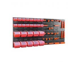 Nástenný organizér na náradie 1600 x 800 mm + 26 boxov s krytom ujodano (7)
