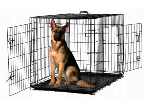 Klietka pre psa XXL, 122 x 76 x 83 cm, kovová