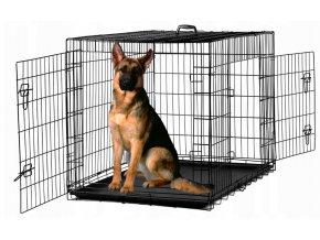 Skladacia klietka pre zvieratá XXL, 122 x 76 x 83 cm