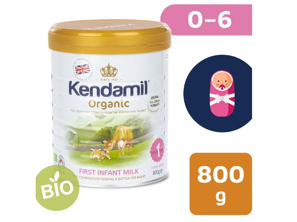 Kendamil BIOorganické plnotučné batolecí mléko 1  (800 g)
