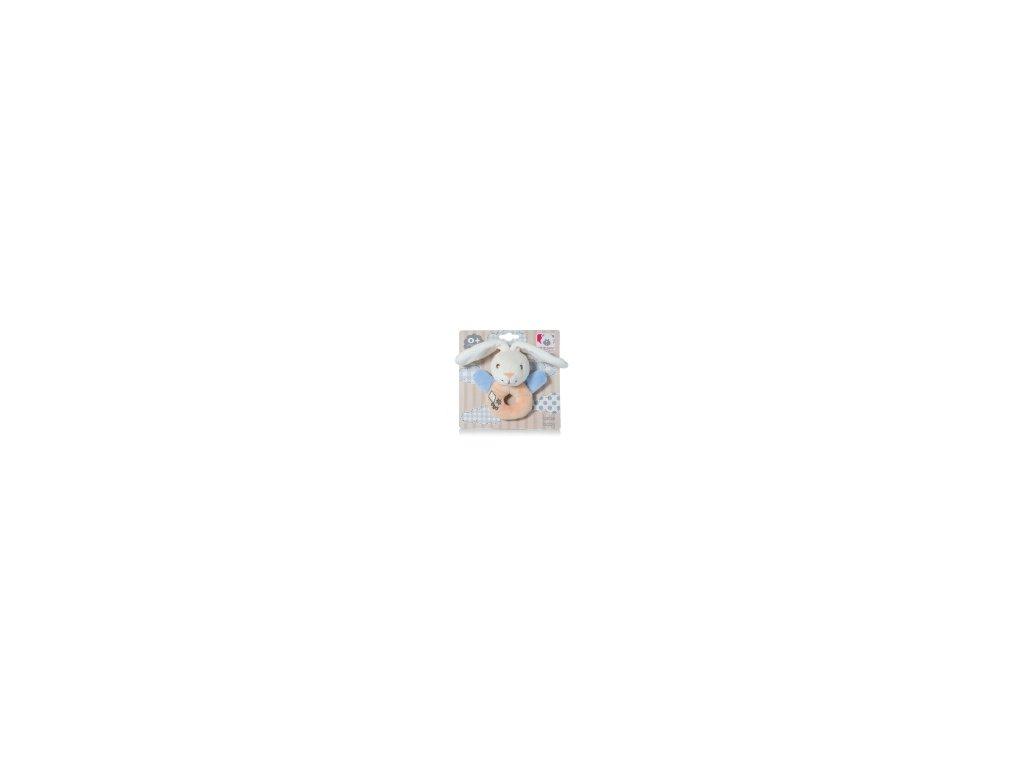 Chrastítko na dudlík modré 2034D