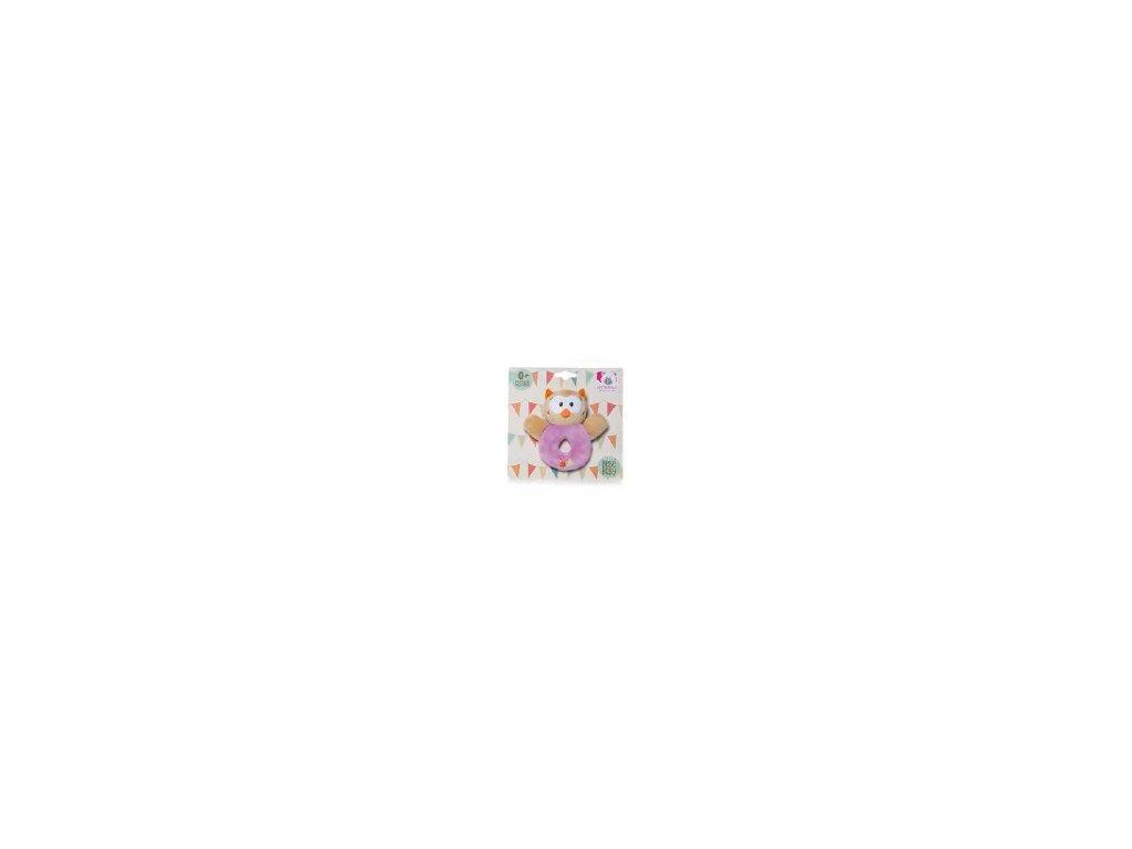 Chrastítko sovička fialová 2030D