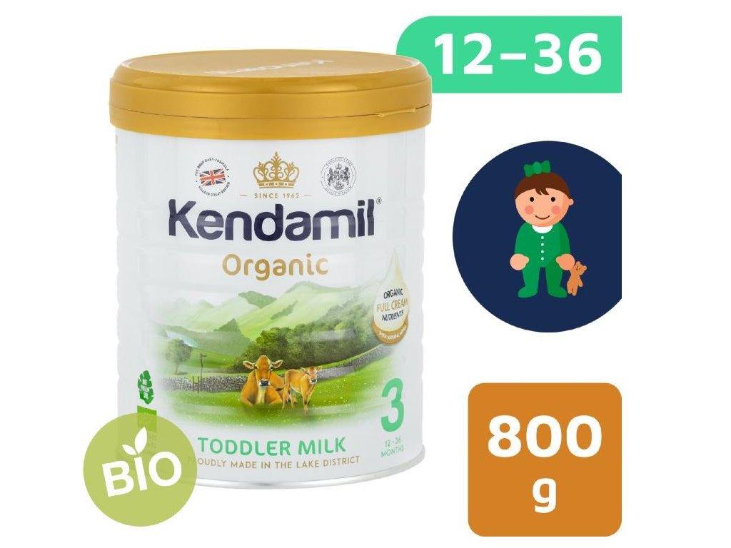 Kendamil BIOorganické plnotučné batolecí mléko 3 (800 g) DHA+