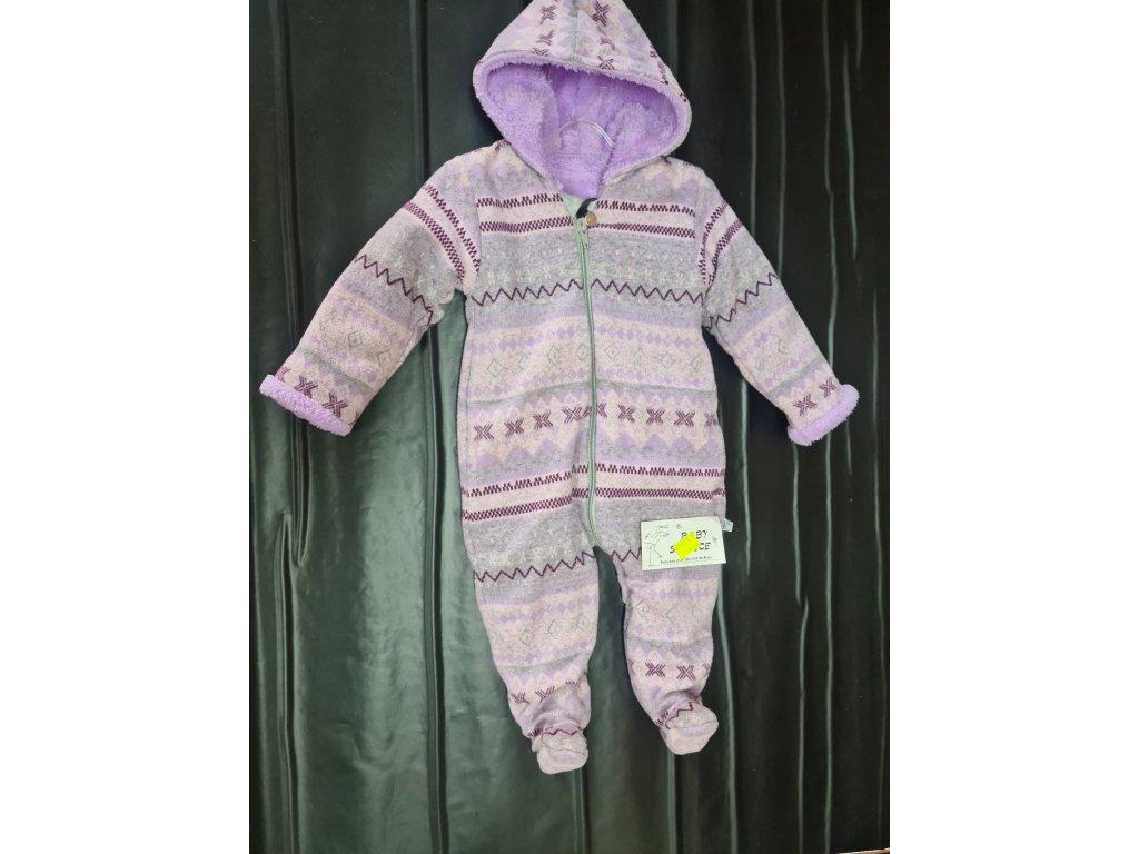 Zimní overal Baby Service fialový vel.74