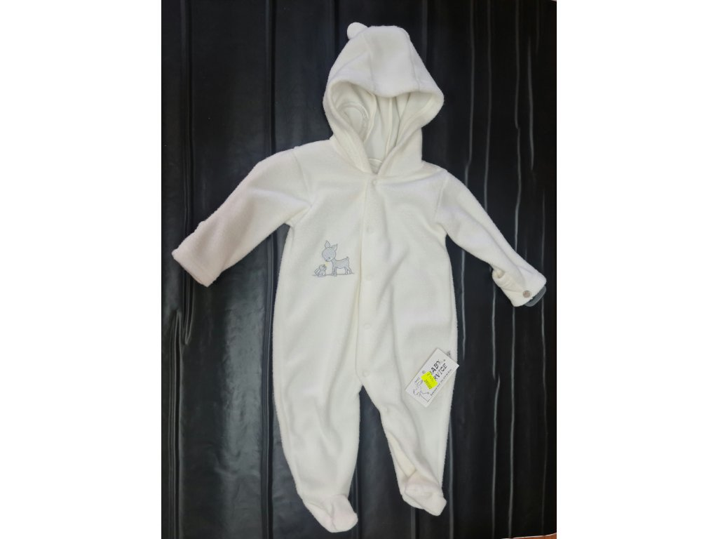Zimní overal Baby Service bílý vel.74
