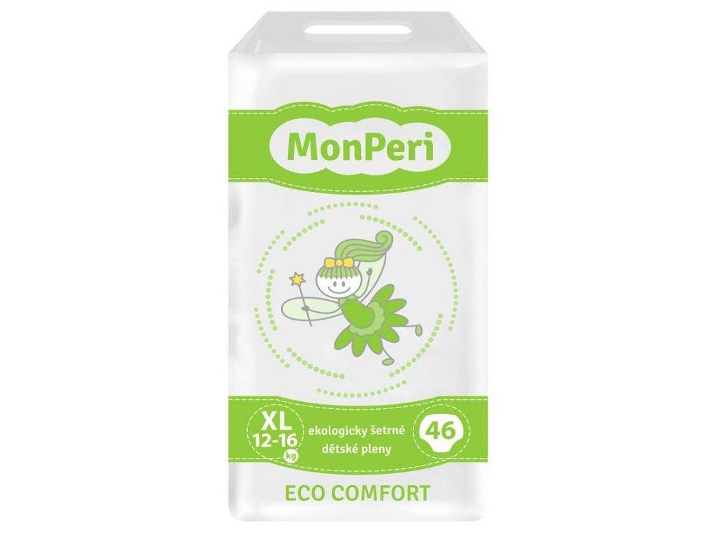 MonPeri Eco Comfort XL 12–16 kg - 46ks EKO Jednorázové dětské plenky (velikost 5)