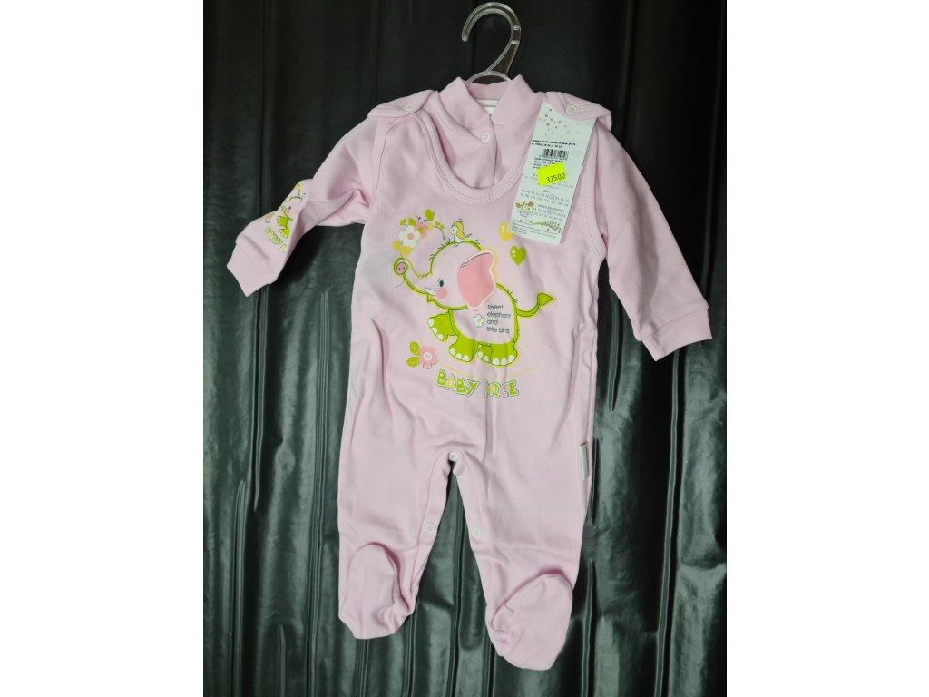 Kojenecká souprava - Slon babynice pink