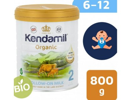 Kendamil BIOorganické plnotučné batolecí mléko 2 (800 g) DHA+