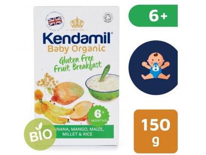 Kendamil BIO Organická dětská bezlepková ovocná kaše (150 g)