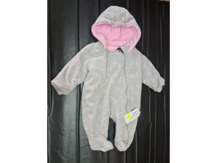 Zimní overal Baby Service růžový vel.68