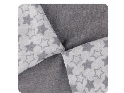 Bambusové pleny XKKO BMB 30x30 - Little Stars Silver MIX 9ks