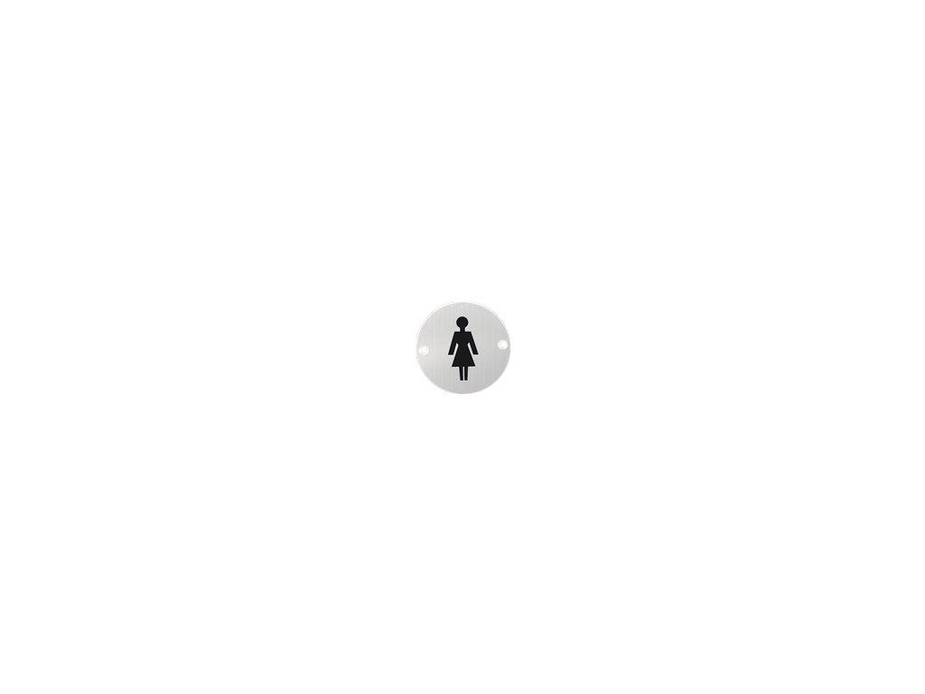 Nerezový PIKTOGRAM žena 8107