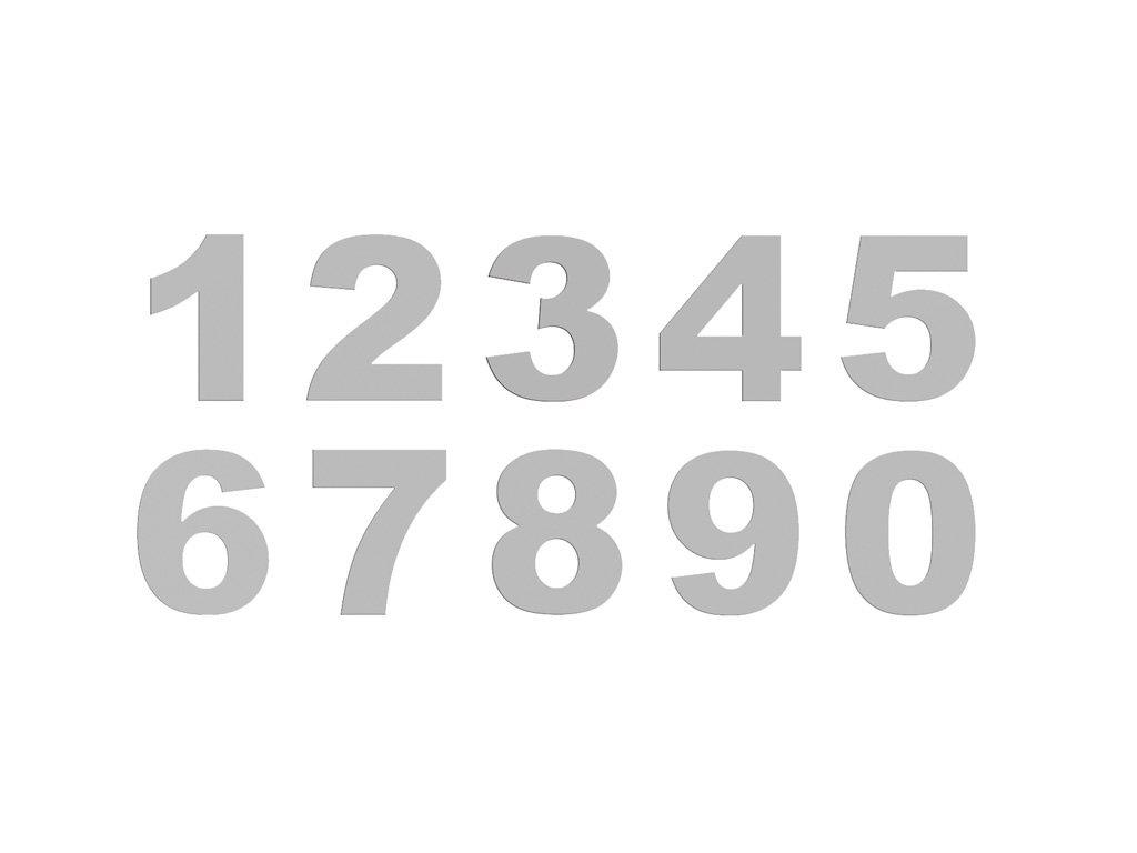 Nerezové číslo na označení - nerez mat