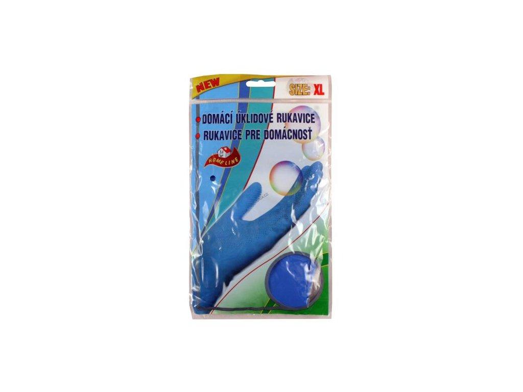 Rukavice gumové semišované XL (10) 26x17 cm guma