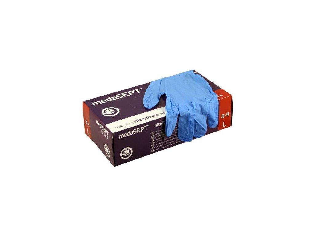 rukavice jednorazove bezpudrove 100 ks (XL) 22x11x7 cm