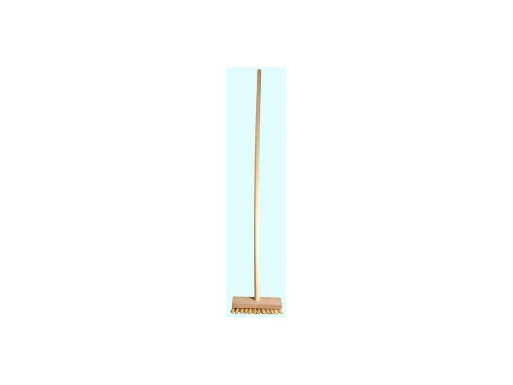 Rejžák podlahový s tyčí 130x18x6 cm dřevo, plast