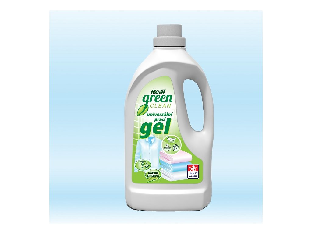 real green clean praci gel 1,5l