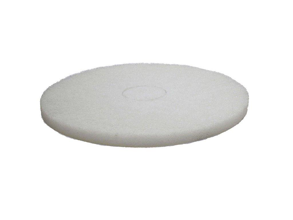 FIBRATESCO Bílý nylon/polyesterový pad