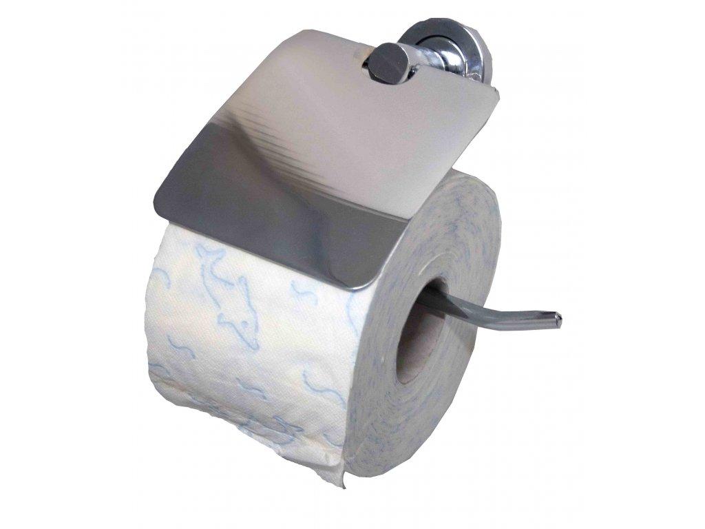 Držák toaletního papíru s krytem; 16x13 cm; nerez