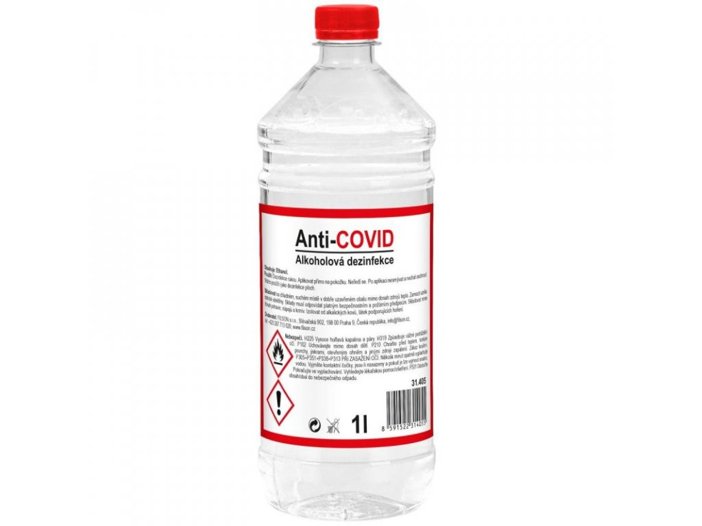 dezinfekce alkoholova anti covid filson 1l