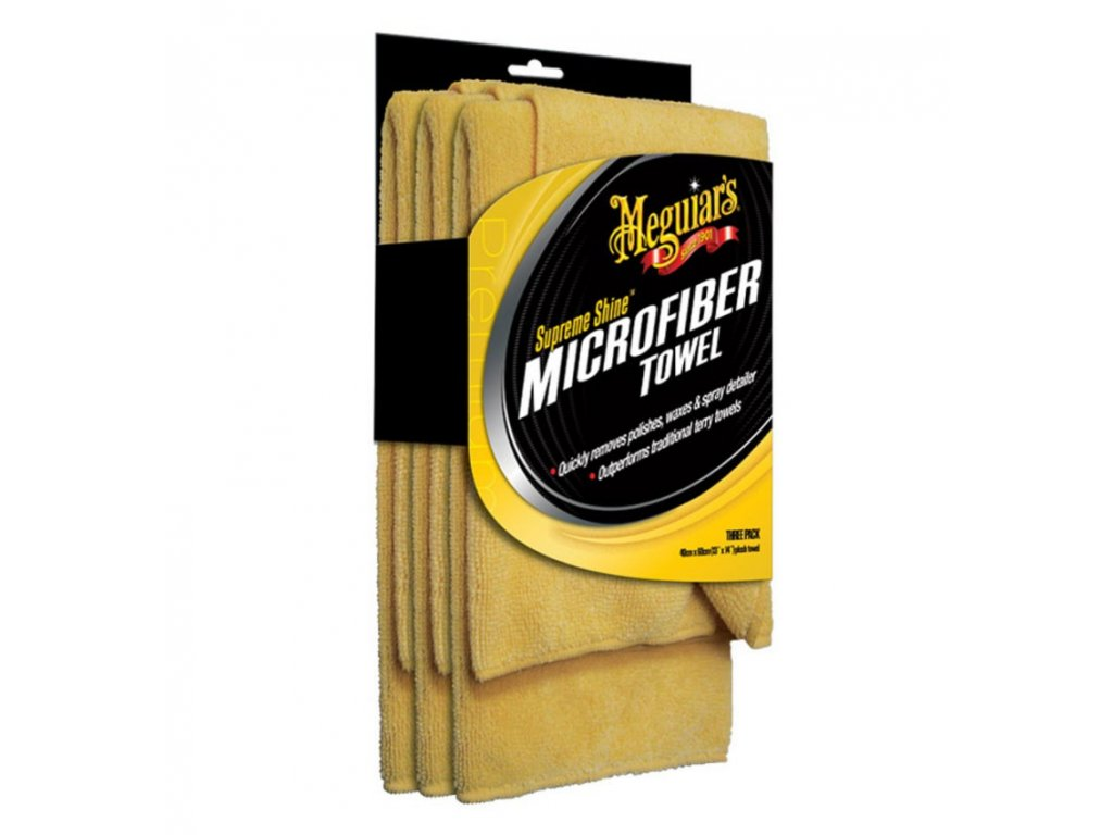 meguiars supreme shine microfiber towel 3 pack mikrovlaknove uterky 3ks
