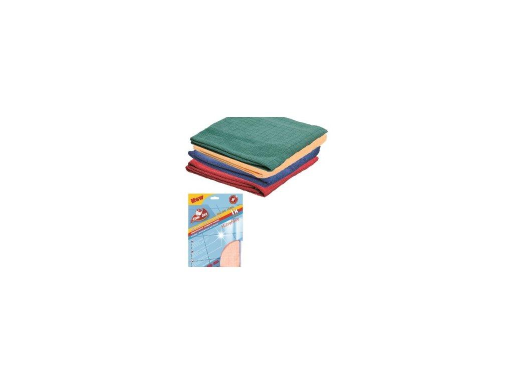 Mikrovlákno 40x40cm modrá, oranžová, zelená 235gr 3 ks