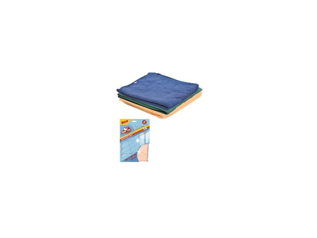 Mikrovlákno 40x40cm modrá, oranžová, zelená  250gr 3 ks