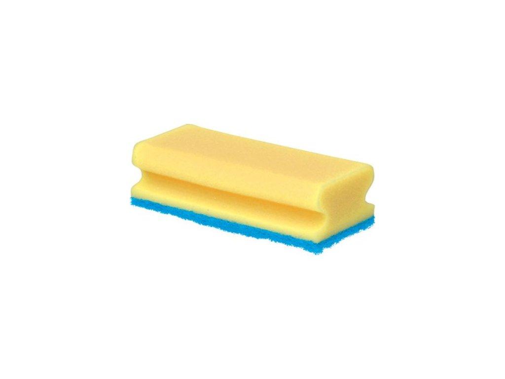 Houba GASTRO tvarovaná na teflon žlutámodrá balení 5 ks 15,5x7x4,5 cm polyuretan