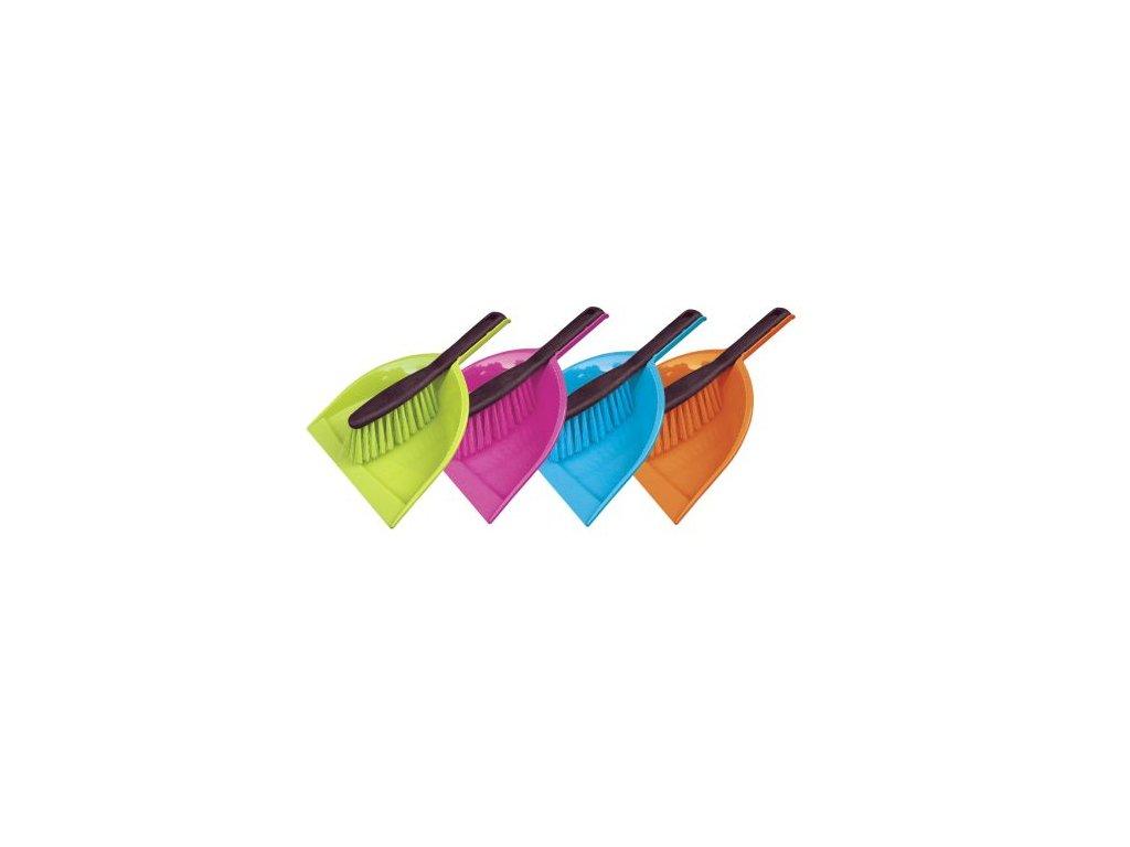 Smetáček + lopatka ECO bez gumy 32x21,526,5x3,5 cm chlup 5 cm plast