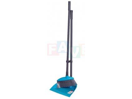 Lopatka + smetáček dlouhá násada 24x22,5x77,577x18 cm chlup 7 cm plast, kov