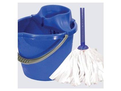 Mopová souprava LABUŤ s mopem EKO 120x31x28 cm mop 140g plast, kov, bavlna
