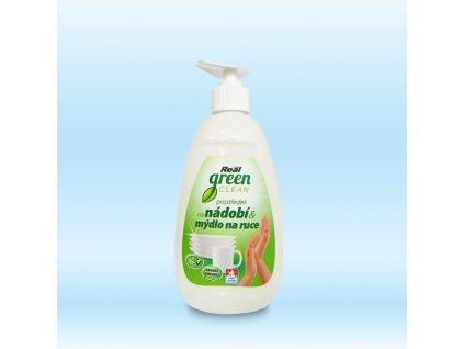 Real green clean prostredek na nadobi a mydlo na ruce 500g