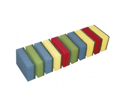 Houbička JUMBO sada 10 ks 9x6x3 cm polyuretan