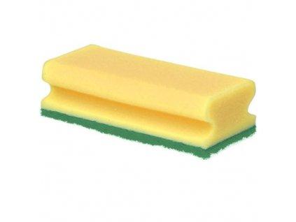 Houba GASTRO tvarovaná žlutá/zelená balení 5 ks 15,5x7x4 cm polyuretan