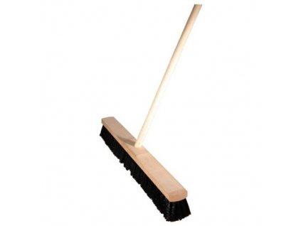 Smeták sálový s tyčí 150x60x5 cm chlup 6 cm dřevo, plast