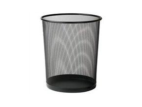 odpadkovy kos kancelarsky kovovy cerny