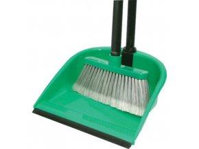 Smetáček + lopatka LENOCH s gumou; 96x24,5x27 cm; chlup 8 cm; plast