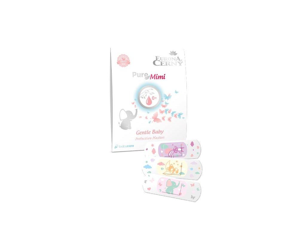 PureMimi 0+ Jemné dětské ochranné náplasti s polštářkem, 15 ks