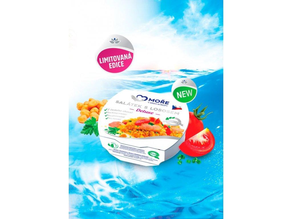 Salátek s lososem Deluxe, 160 g