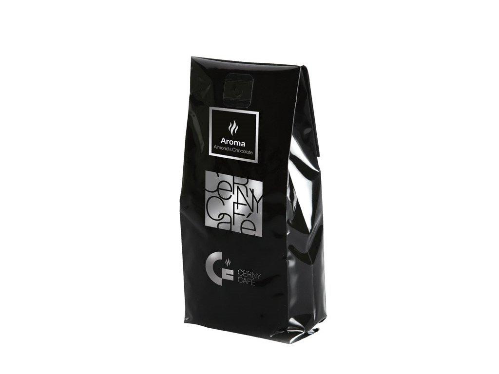 Mletá aromatizovaná káva Cerny Café - 100% Arabica Mandle & čokoláda, 200 g