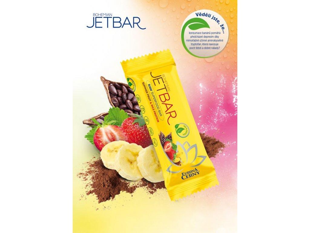 JETBAR RAW Letní ovoce & rýžový protein, 42 g