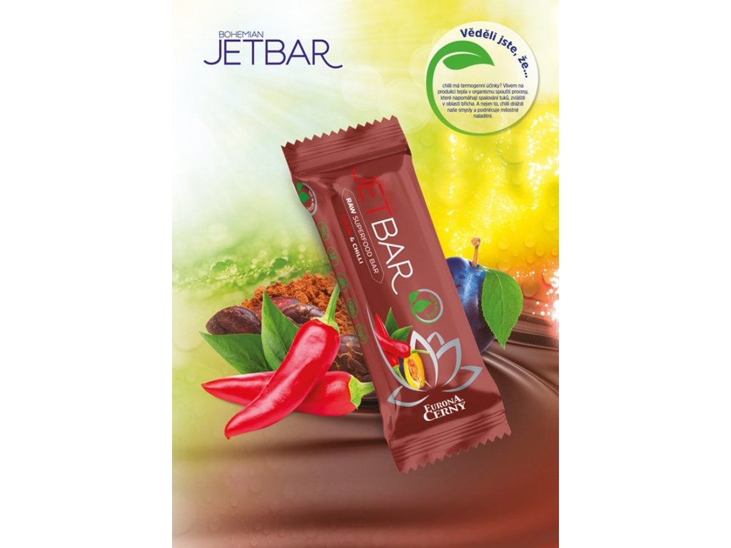 JETBAR RAW Kakao & chilli, 42 g