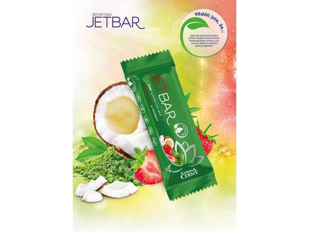 JETBAR RAW Bio Matcha čaj & kokos, 42 g