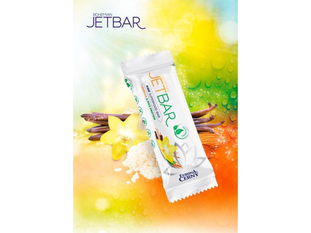 JETBAR RAW Vanilka & rýžový protein, 42 g