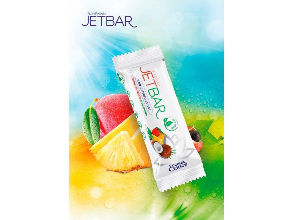 JETBAR RAW Tropické ovoce & guarana, 42 g