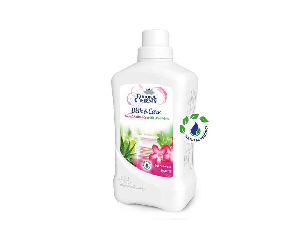 Gel na ruční mytí nádobí s Aloe vera - Květinová romance, 1 000 ml